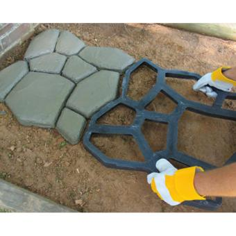 Pavement Mold DIY Plastic Path Maker Mold Garden Stone RoadConcrete Mold Manually Paving Cement Brick Molds 50*50*4.4cm - intl