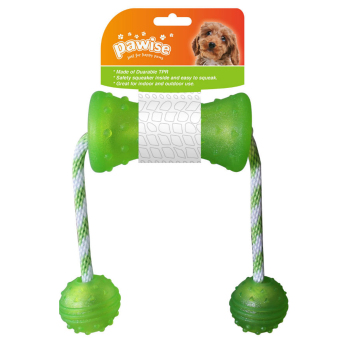Pawise Dog Toy Play and Chew Bone with Ball (Green) Price Philippines