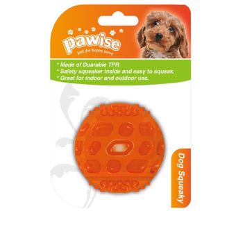 Pawise Squeeky Ball Dog Toy 5cm (Orange)