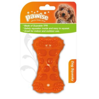 Pawise Squeeky Bone Dog Toy (Orange) Price Philippines