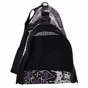 Paws UP Portable Foldable Dog Cat Pet Carrier Travel Bag CageOriental Flower design - 5