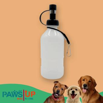PAWS UP Water Dispenser Drinking Bottle For Small Pet Dogs CatsPuppies BLACK 150 ML