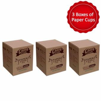 PC3 - 3 Boxes of Chong Cafe Paper Cups (6.5 oz) - Chong Cafe Phils Price Philippines