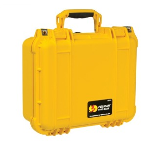 Pelican 1400YLW Small Case with Foam (Yellow) - picture 2