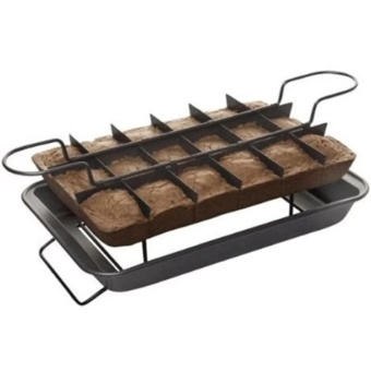 Perfect Slice Brownie Maker Pan Set (Silver)