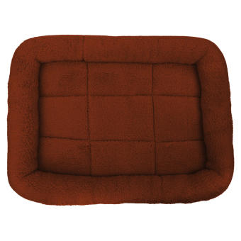 Pet Bed Cushion Mat Pad Dog Cat Cage Kennel Crate Warm Cozy SoftHouse (Coffee) (L) - intl