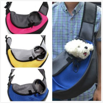 Pet Carrier Carrying Cat Dog Puppy Small Animal Sling Front CarrierMesh Comfort Travel Tote Shoulder Bag Pet Backpack - intl
