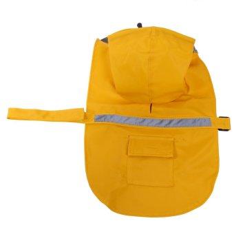 Pet Cat Dog Outdoor Waterproof Jacket Hood Poncho Raincoat(YellowXS) - intl - 4