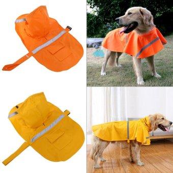 Pet Cat Dog Outdoor Waterproof Jacket Hood Poncho Raincoat(YellowXS) - intl - 3