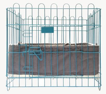 Pet Depot Cushioned Border for Small Crates (Light Blue Denim)