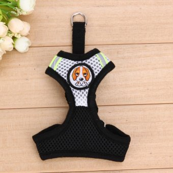 Pet Dog Collars Puppy Leash Vest Mesh Breathe AdjustableHarness(Black S) - intl - 2