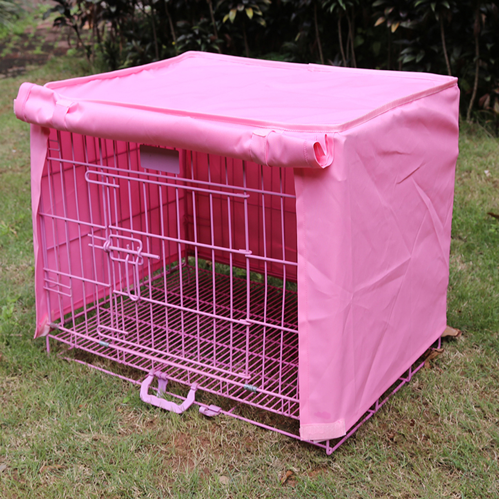"""pet dog crate cage kennel cover pink """" length size s  lazada ph -"""