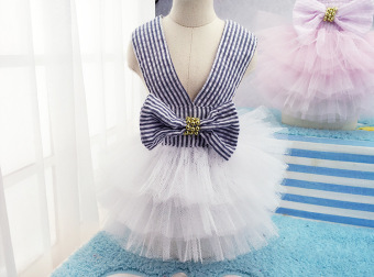 Pet Dogs Bubble Skirt with Bowknot Princess Dress pink - intl - 4