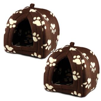 Pet Hut Set of 2 (Brown)