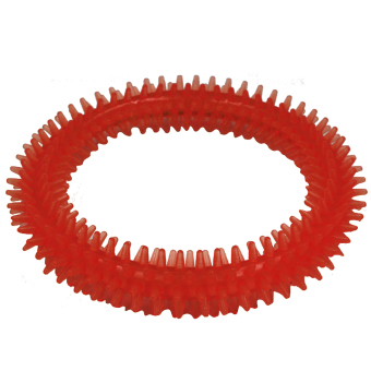 Petpals Puppy Dog Large Teething Rubber Toy (Red) - 2