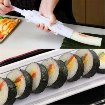 PETREL Sushi Mold Maker Bazooka Shaped Sushi Rolls Making Tool RiceBall Mould Roller Cooking Tools (Color: White) - intl