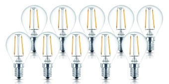 Philips Non-Dimmable LEDClassic 2-25W P45 E14 WW CL ND APR LED Bulb Set of 10