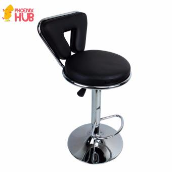 Phoenixhub Adjustable height HIGH Quality and Very Durable BarStool High chair BLACK