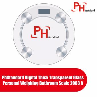PhStandard Digital Thick Transparent Glass Personal Weighing Bathroom Scale 2003 A