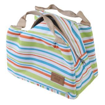 Picnic Lunch Box Bag Dining Travel Purse Zipper Handbag Women Kids Green - picture 2