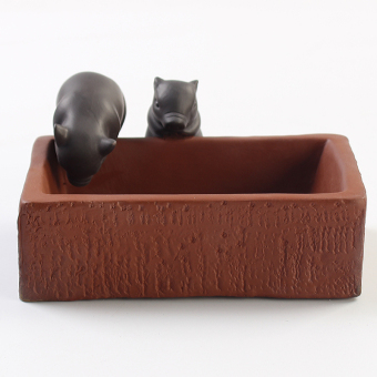 Pig trough clay tea tray tea pet