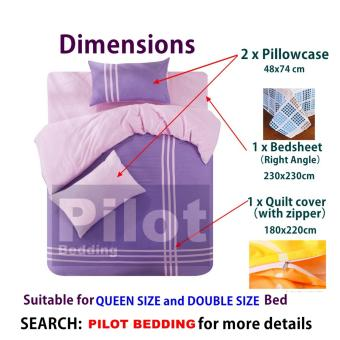 Pilot Bedding PL001 New Arrival 4 in 1 Plain Color Skin-Friendly Soft and Comfortable Cotton Symphony Style Best Wedding Gift Bedding Suit - 5