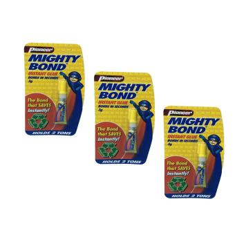 Pioneer mighty bond instant glue 3grams (3pcs) Price Philippines