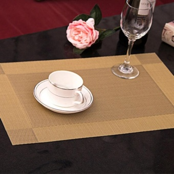 Plaid PVC Environmental Heat Insulation Eat Mats Table PlacematKitchen - intl Price Philippines