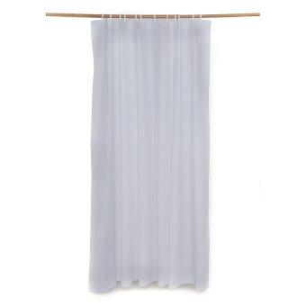 Plain Shower Curtain with free 2pc Shower Cap Set (White) - 2