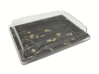 Plastic black frozen disposable fresh Tray