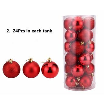 Plastic Christmas Tree Xmas Balls Decorations Baubles Party Wedding Ornament