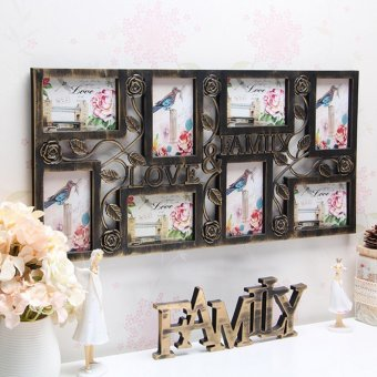 Plastic Collage Hanging Photo Frame Love Family Picture Display Wall Home Decor - intl