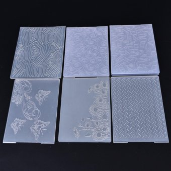 Plastic Embossing Folder Template Flower Heart DIY Scrapbook PaperCraft Clear 14.5x10.5cm - intl