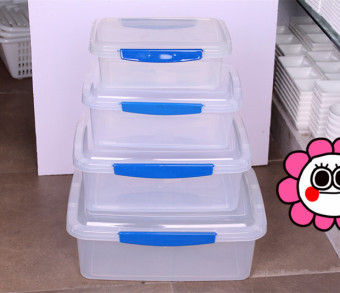 Plastic extra large refrigerator freezer sealed box storage box