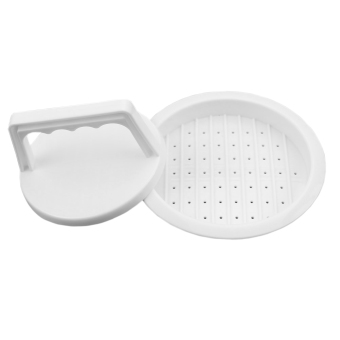 Plastic Hamburger Meat Beef Grill Burger Patty Press Maker KitchenMold (White) (Intl) Price Philippines