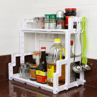 Plastic Kitchen Shelving Space Saver (White) Price Philippines