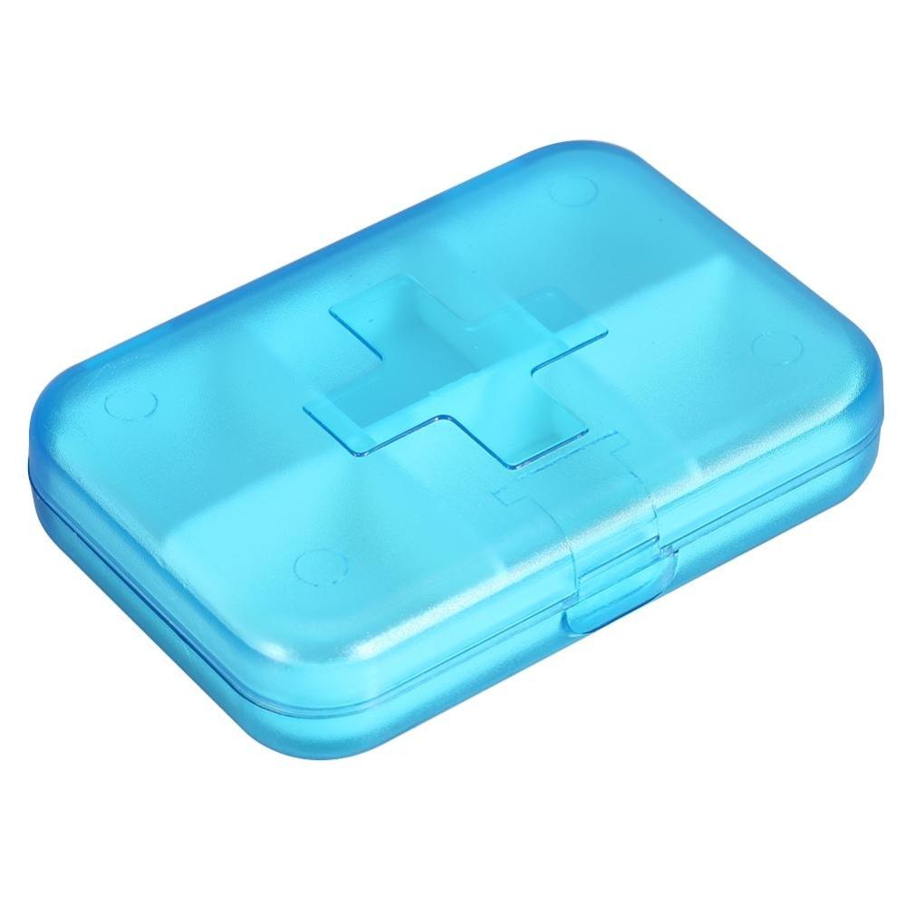 Philippines | Plastic Portable 6 Slots Pills Box Medicine