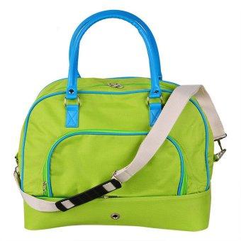 Pockets Weekender Overnight Bag (Lime and Aqua)
