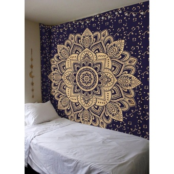 Polyester Tapestry 147x200cm (Yellow Lotus) - intl Price Philippines