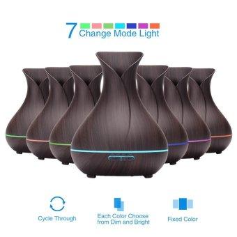 Pontus 400ml Cool Mist Air Humidifier Ultrasonic Aroma EssentialOil Diffuser Wood-Grain .