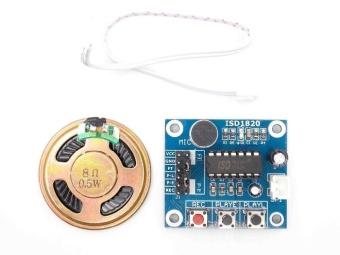 popeye ISD1820 recording module voice module the voice boardtelediphone module board with Microphones + Loudspeaker - intl - 2