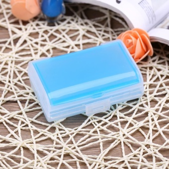 Portable 2-Layer Pill/Tablet/Medicine/Jewel Home Travel Storage BoxContainer Organizer Blue - intl