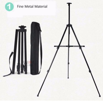 Portable Art Supply Foldable Sketch Multi-Adjust Metal Easel Artist Tripod Stand Draw For Exhibition Display Painting AD Show With Bag - intl