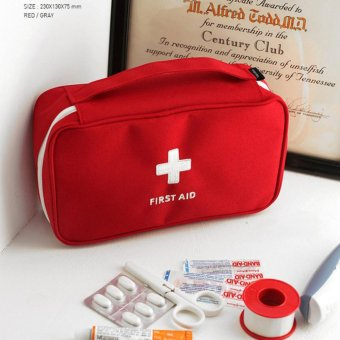 Portable First Aid Emergency Medical Kit Survival Bag MedicineStorage Bag For Travel Outdoor Sports Camping Home Medical Tools -intl