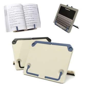 Portable Folding Book Stand Reading Desk Documents Holder Book holder Book Stand Blue - 5