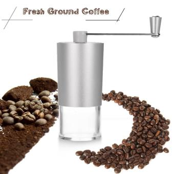 Portable Manual Coffee Bean Grinder Mill with Brush and SpoonKitchen Grinding Tool - intl