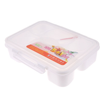 Portable Microwave Bento Lunch Box (White) Price Philippines