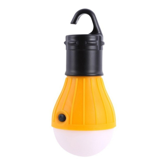 Portable Outdoor Camping Home Emergency Waterproof Hanging LED TentLight Lamp Bulb Nightlight with Switch Yellow