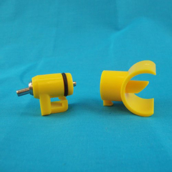 Portable Saddle Style Poultry Water Drinking Nipple Drinker forChicken /Turkey /Geese /Duck - 100 pcs/set Yellow - 3