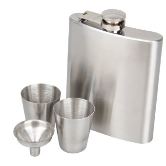 Portable Stainless Steel 7oz Hip Flask Flagon Whiskey Wine PotBottle Gift - Intl